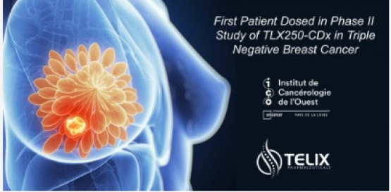 First Patient Dosed in Phase II Study of TLX250-CDx in Triple-Negative Breast Cancer
